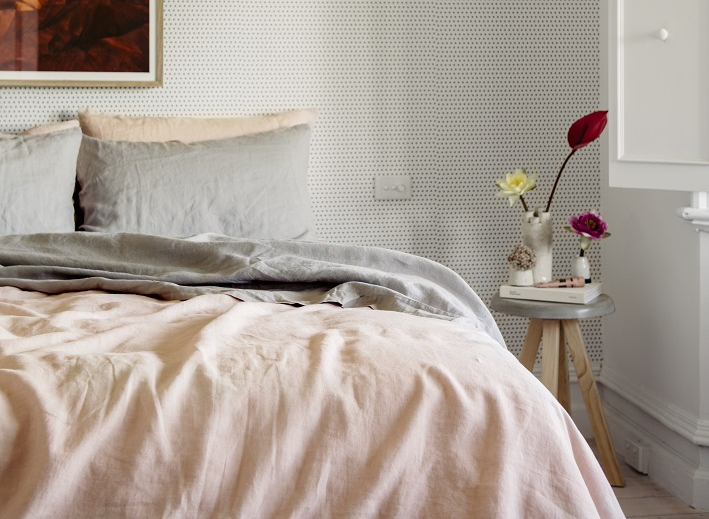 **GIFTED** French Linen Blush King Quilt Cover $245