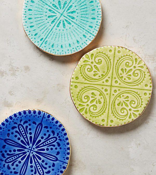 Seafoam Stone Coaster Set of Four $55