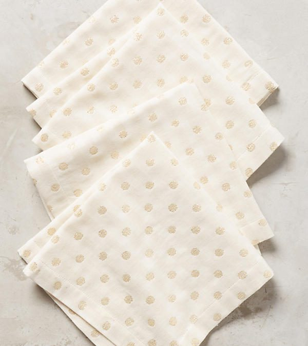 Gold Dot Napkin Set of 4 $45