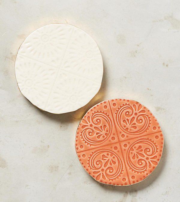 White Stone Coaster Set of Four $55