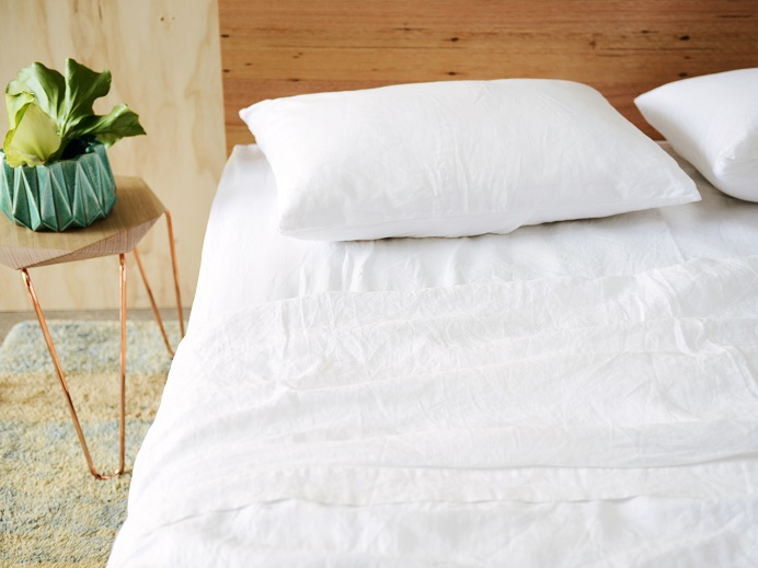 French Linen White King Sheet Set $339